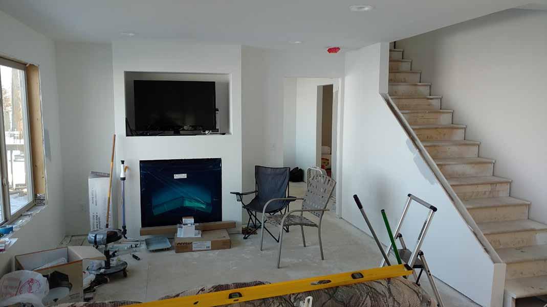 Home construction progress