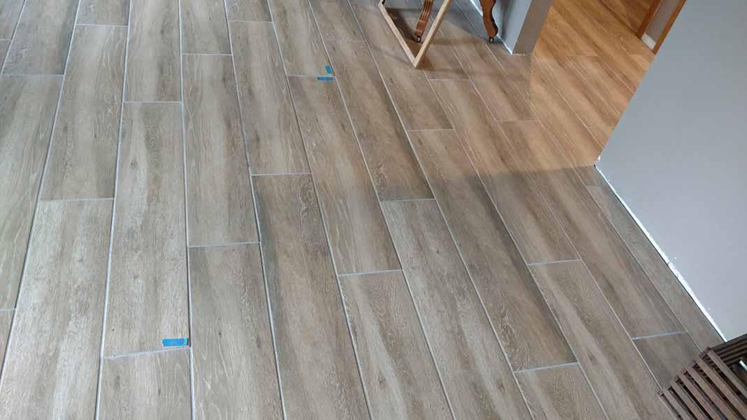 Remodeled flooring