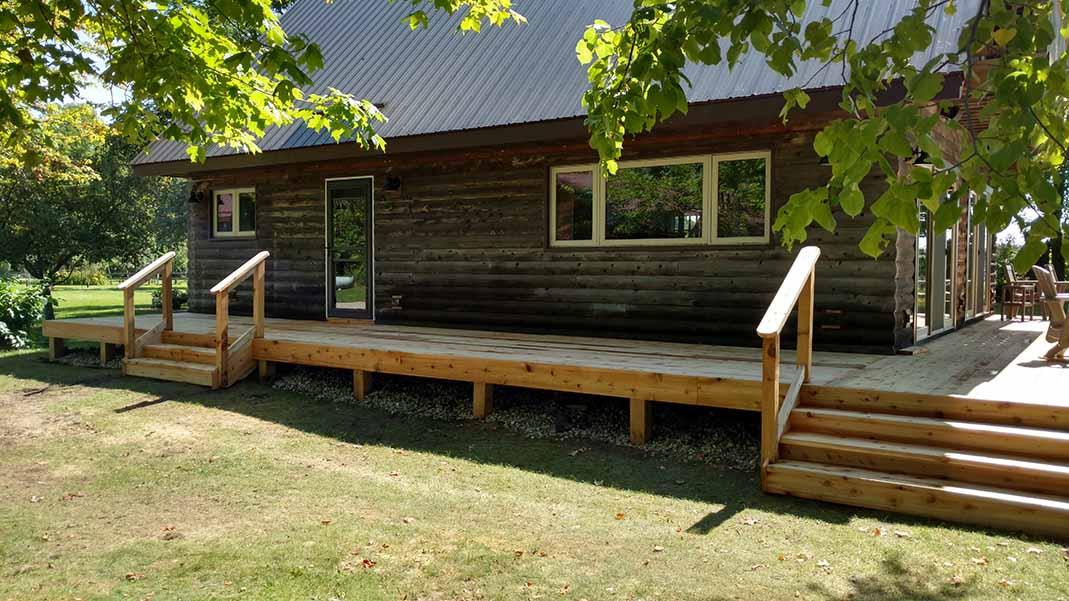 Lake home deck