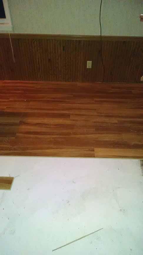 Lake home flooring