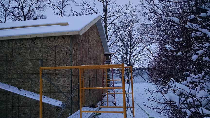 Lake home remodeling project