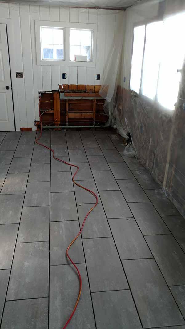 New floor in porch