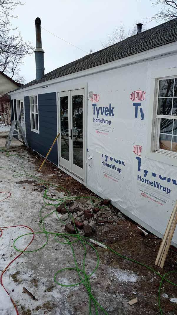 Home remodeling progress