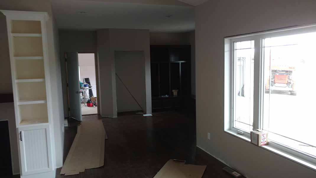 Newly constructed living room