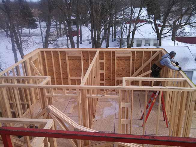 New Lake Home Being Built